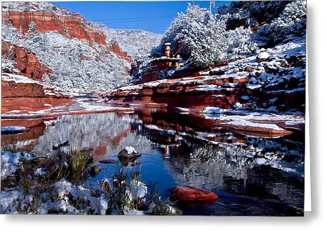 Greeting Card featuring the photograph Slide Rock  by Tom Kelly