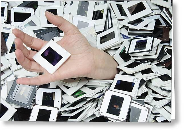Slides Slides And More Slides Greeting Card by Matthias Hauser