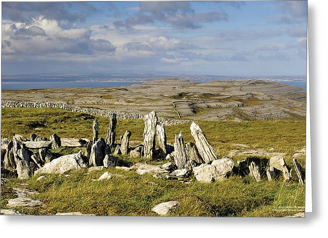 Slieve Carron The Burren County Clare Greeting Card by Sean Tomkins for Ireland of the Welcomes
