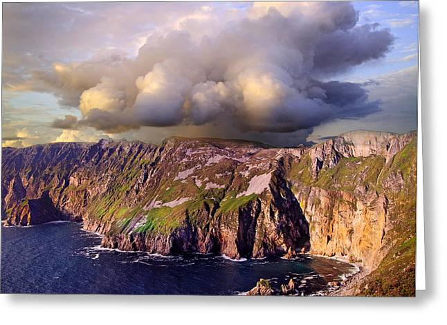 Slieve League Greeting Card by Betsy Knapp