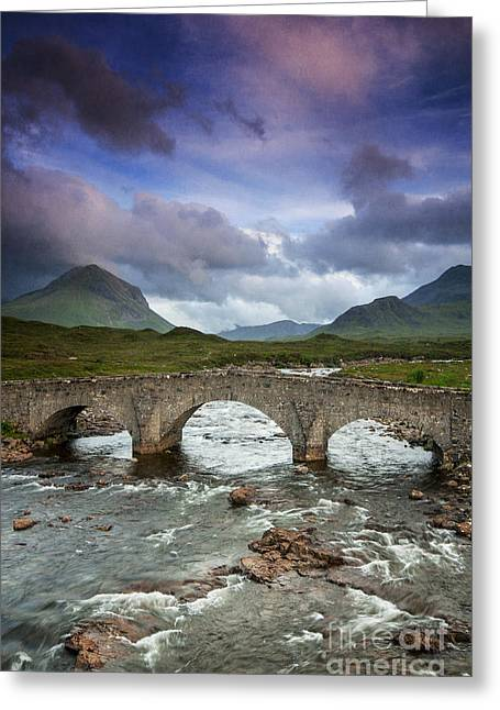 Sligachan Sunset Greeting Card