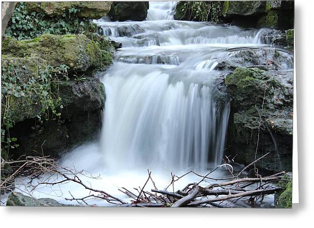 Slinky Waterfall Greeting Card by Theresa Selley
