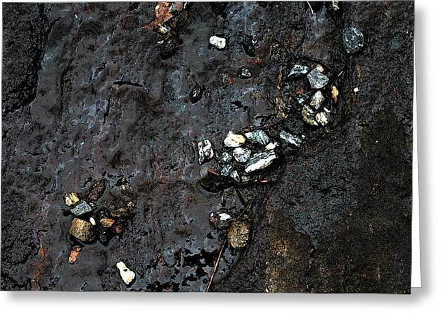 Greeting Card featuring the photograph Slippery Rock  by Allen Carroll