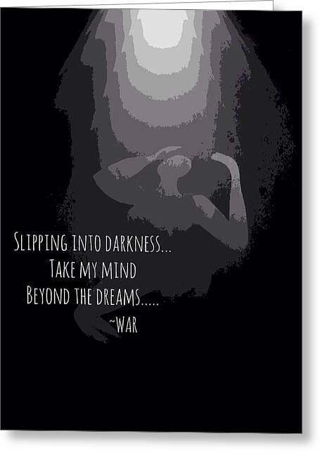 Slipping Into Darkness Greeting Card by Romaine Head
