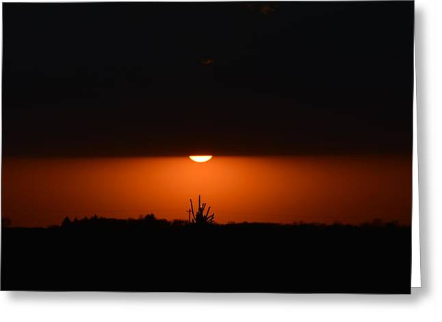 Sliver Of A Sunset Greeting Card