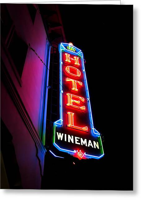 Slo Wineman Greeting Card by Paul Foutz