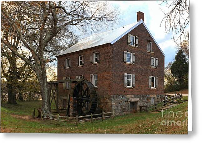 Sloan Park Grist Mill Greeting Card by Adam Jewell