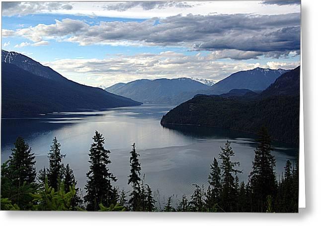 Slocan Lake Looking North Greeting Card
