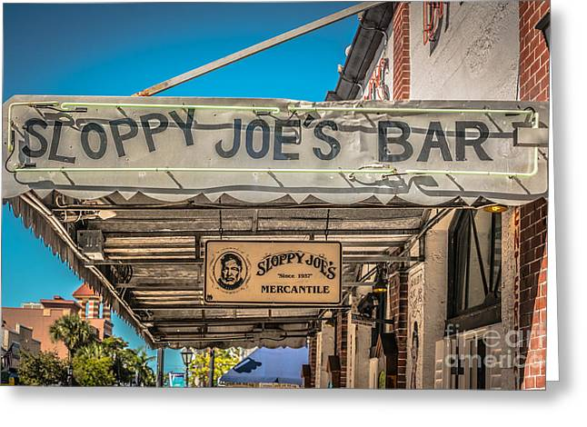 Sloppy Joe's Bar Canopy Key West - Hdr Style Greeting Card by Ian Monk