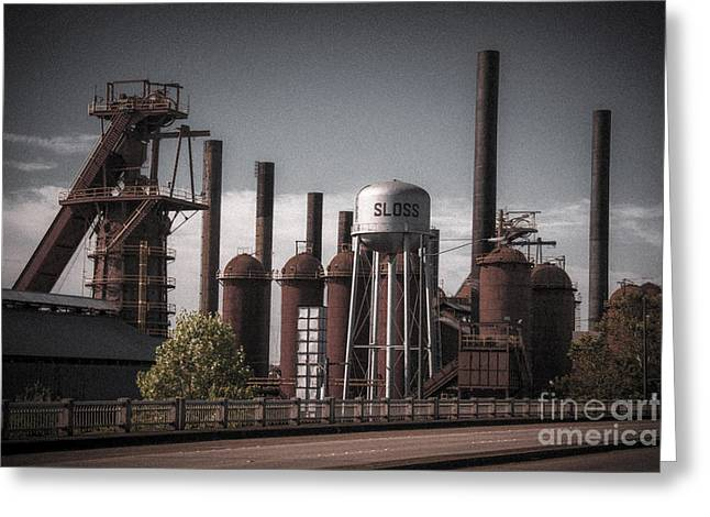 Greeting Card featuring the photograph Sloss Furnaces by Ken Johnson
