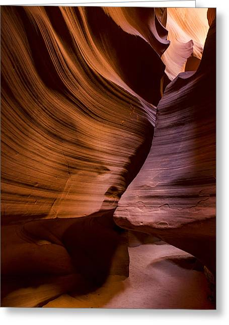 Slot Canyon Greeting Card by Dave Cleaveland