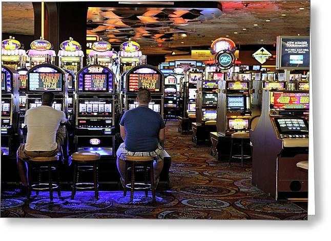 Slot Machines Greeting Card