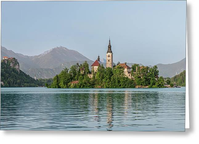 Slovenia, Bled, Bled Island (large Greeting Card by Rob Tilley