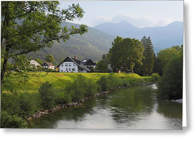 Slovenia. Houses Greeting Card