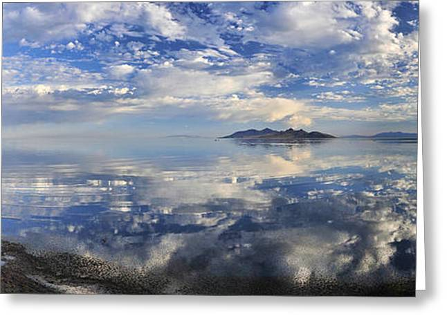 Slow Ripples Over The Shallow Waters Of The Great Salt Lake Greeting Card by Sebastien Coursol