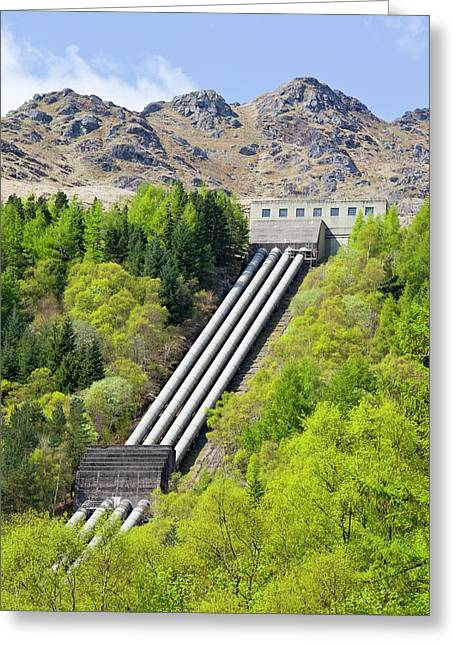 Sloy Hydro Power Station Greeting Card by Ashley Cooper
