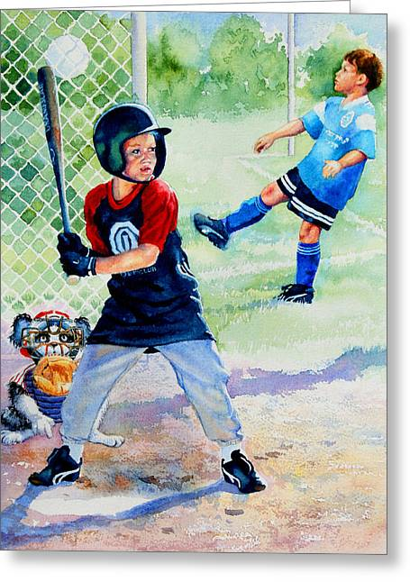 Slugger And Kicker Greeting Card by Hanne Lore Koehler