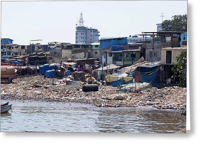 Slum In Colaba Greeting Card by Mark Williamson