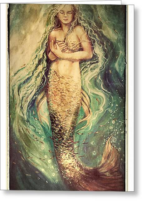 Slumbering Siren Illustration Greeting Card