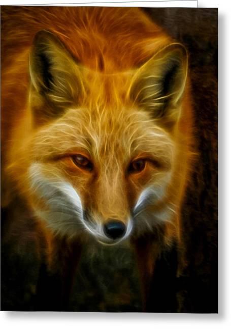 Sly Fox Greeting Card by Ernie Echols