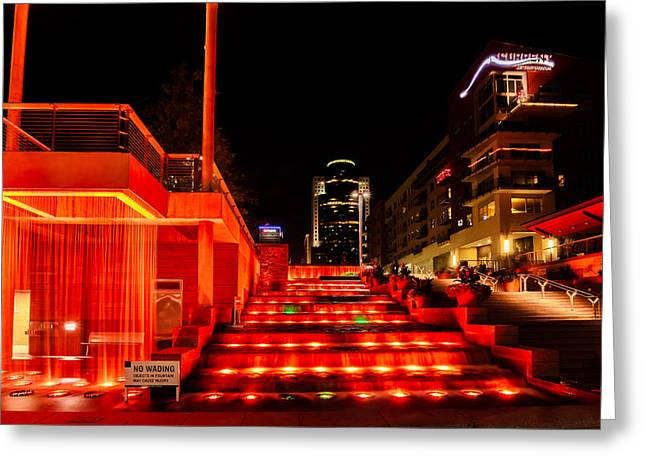 Smale Park At Night Greeting Card