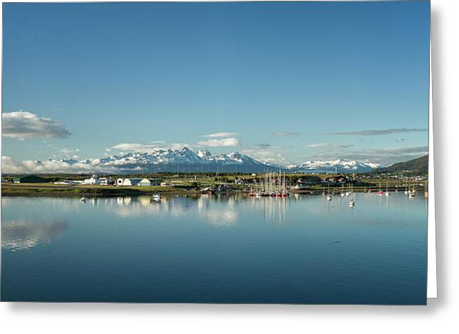 Small Boat Harbor By Old Airport Greeting Card