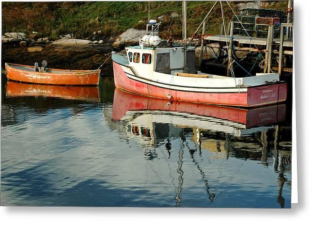 Small Boats At Peggy's Cove. Nova Scotia. Greeting Card