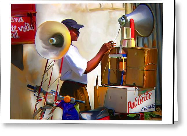 Greeting Card featuring the digital art Small Business by Bob Salo