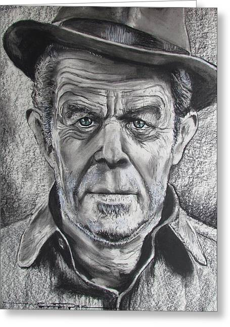 Small Change For Tom Waits Greeting Card by Eric Dee
