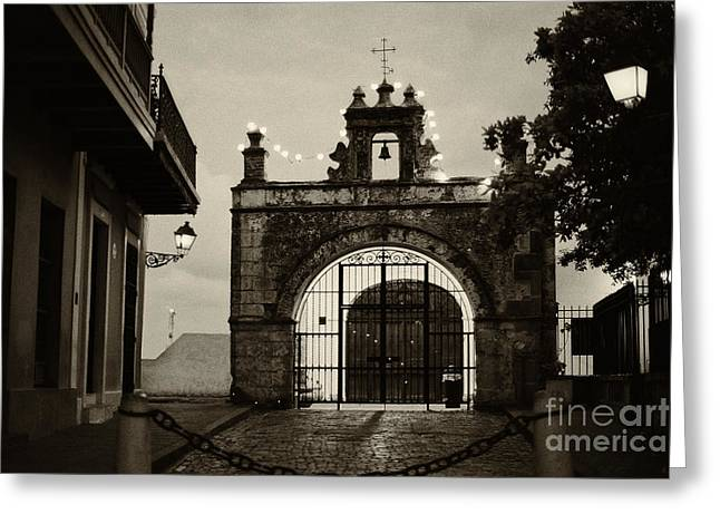 Small Chapel In San Juan Greeting Card by George Oze