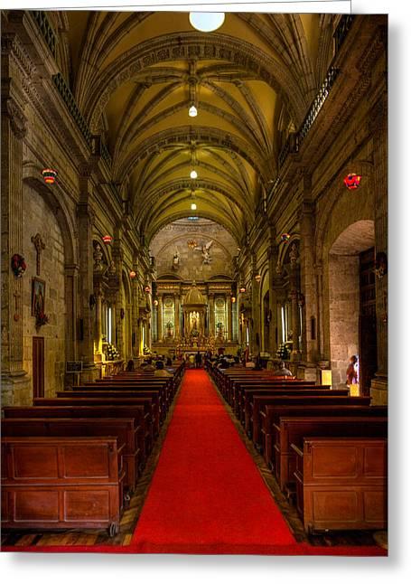 Small Church Guadalajara Greeting Card by Tommy Farnsworth