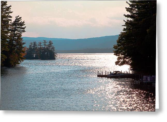 Small Dock On Lake George Greeting Card