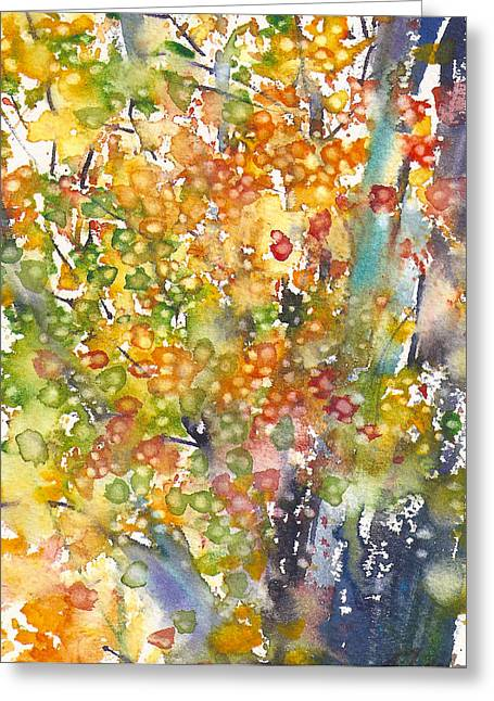 small format No.23 New England Fall-scape 40x49 Greeting Card by Sumiyo Toribe