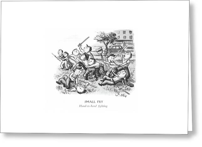 Small Fry  Hand-to-hand ?ghting Greeting Card by William Steig