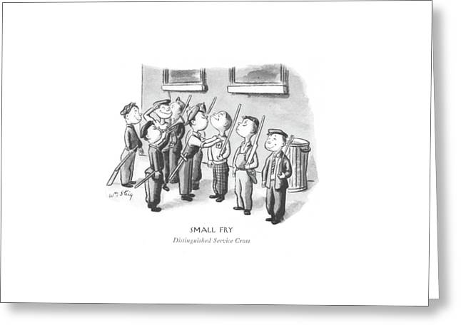 Small Fry Distinguished Service Cross Greeting Card by William Steig