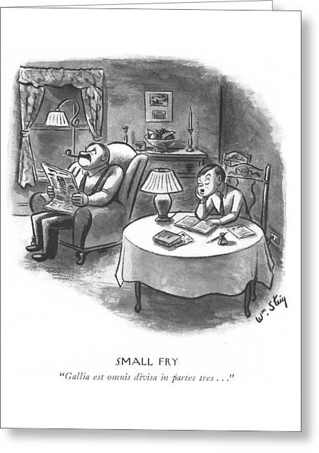 Small Fry  Gallia Est Omnis Divisa In Partes Tres Greeting Card