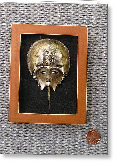 Small Horseshoe Crab Mask Greeting Card
