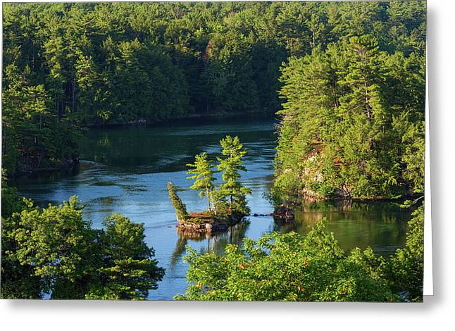 Small Island On Saint Lawrence River Greeting Card