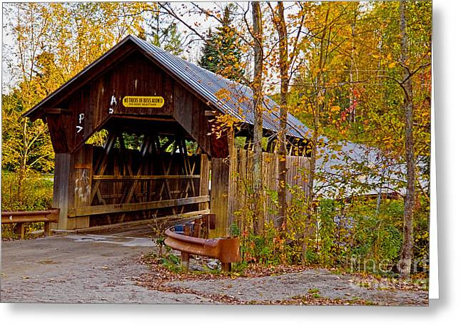 Small  New England Covered Bridge 1 Greeting Card