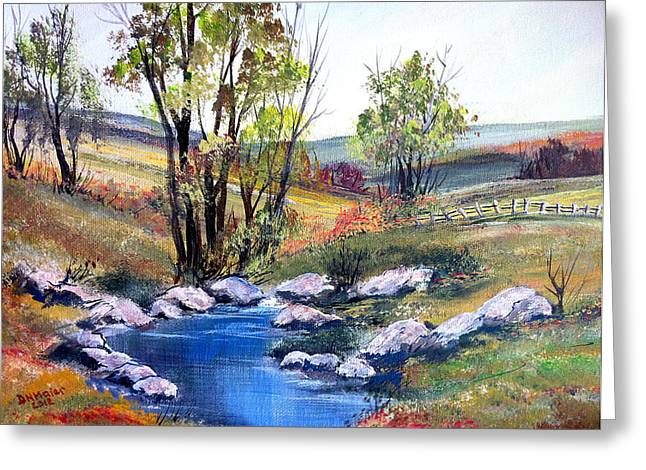 Greeting Card featuring the painting Small Pond by Dorothy Maier