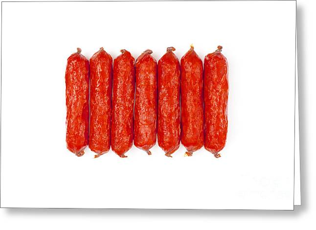 Small Smoked Sausages Greeting Card