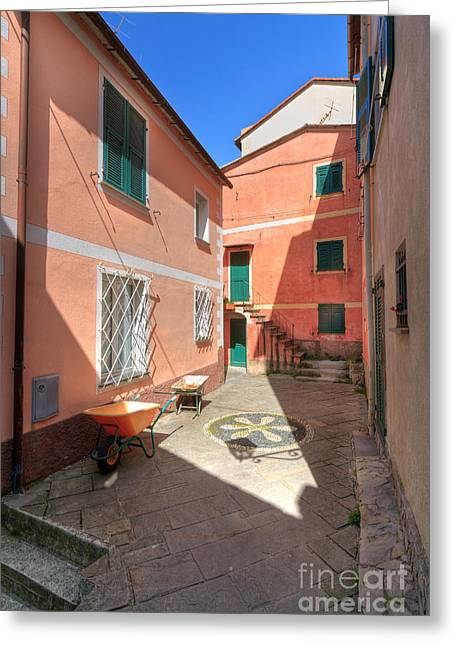 small square in Camogli Greeting Card by Antonio Scarpi
