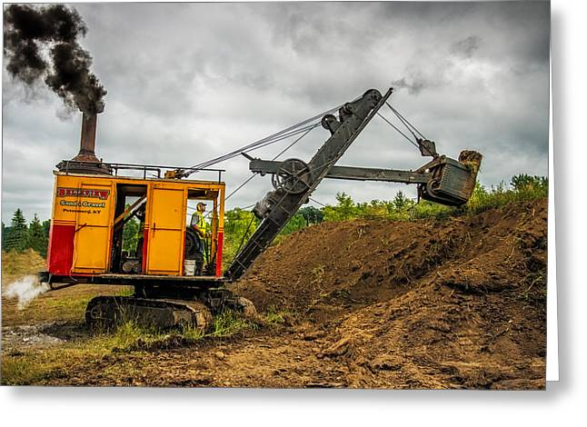 Small Steam Shovel Greeting Card by Paul Freidlund