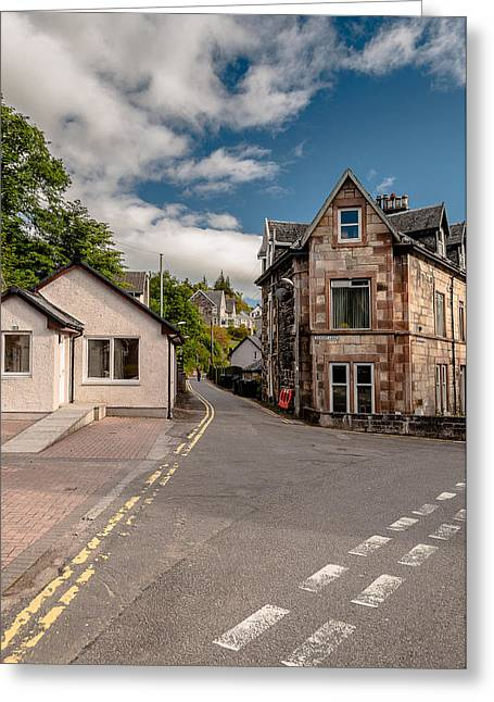 Greeting Card featuring the photograph Small Streets Of Oban by Sergey Simanovsky