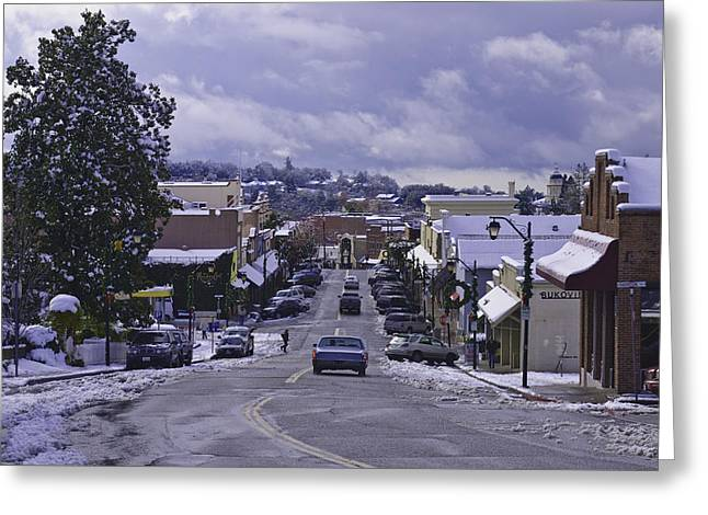 Greeting Card featuring the photograph Small Town America by Sherri Meyer