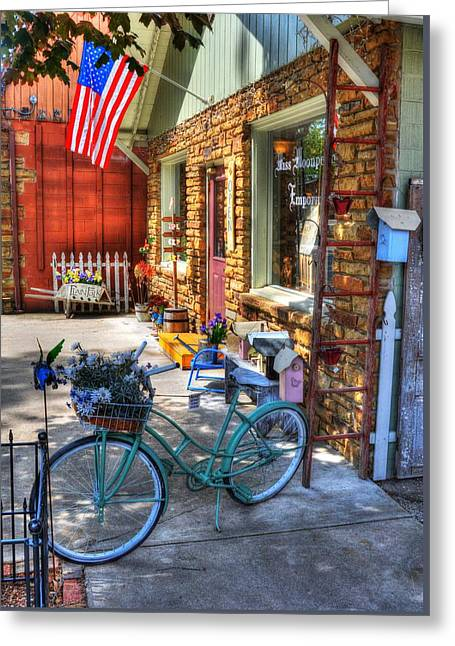 Small Town America Greeting Card by Tri State Art
