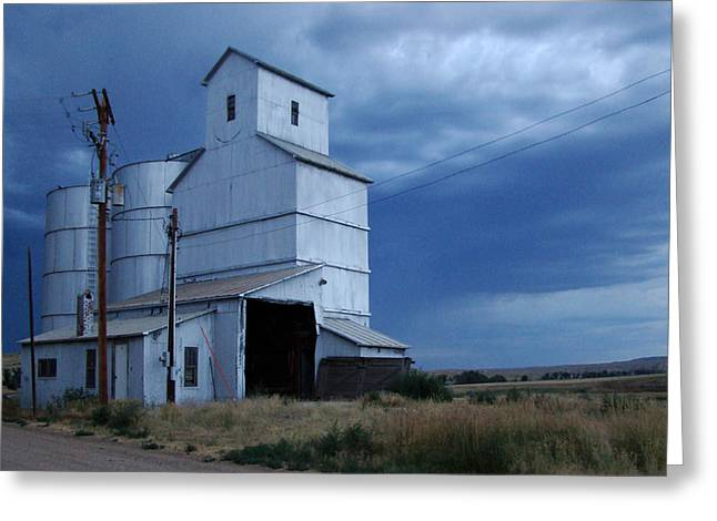 Greeting Card featuring the photograph Small Town Hot Night Big Storm by Cathy Anderson