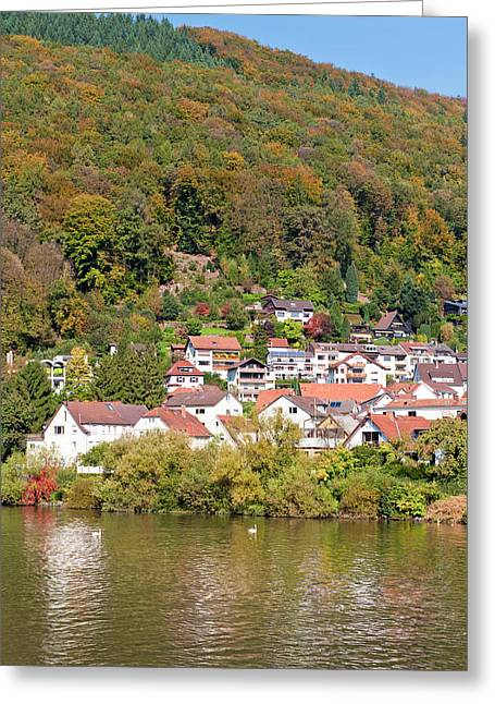 Small Town On The Neckar River, Germany Greeting Card by Michael Defreitas