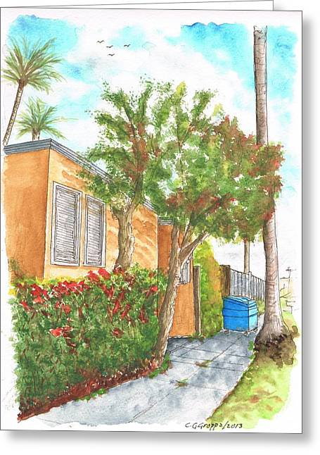 Small Trees In Homewood Ave - Hollywood - California Greeting Card