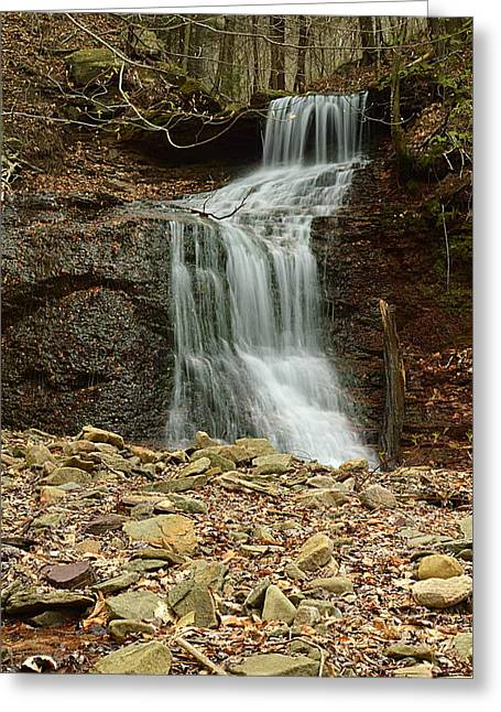 Small Tributary Falls To Heberly Run #1 Greeting Card